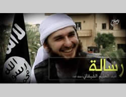 Abd al-Halim the Chechen as he appeared in a video, calling on Muslims living in Western countries to carry out attacks in their countries