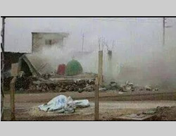 The tomb of Sidi Sulayman in the village of Al-Haqf, which was blown up by ISIS