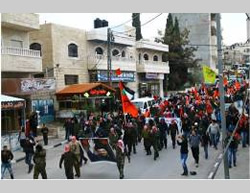 DFLP military displays in Abu Dis and Tubas (Facebook page of QudsN, February 22, 2015).