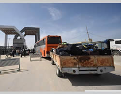 Pictures taken after the Rafah crossing was temporarily opened (Paltoday.ps, March 9, 2015).