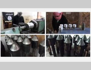 Documentation of part of the process for making self-produced Al-Farouq 1 rockets (ISIS-affiliated Twitter account, March 7, 2015)