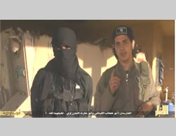 Two of the suicide bombers, the Lebanese Abu Khattab and the Saudi Abu Harith (Shabakat al-Jihad al-Alami, March 28, 2015)