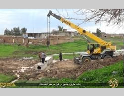 Construction of infrastructure by ISIS in northwestern Iraq
