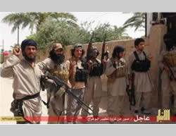 ISIS operatives in the city of Ramadi.