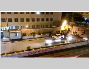 The scene of an IED explosion near UNRWA headquarters in Gaza City (Quds.net, April 18, 2015).