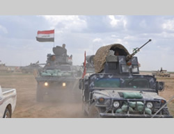 Iraqi Army attack on the town of Al-Sufiya, east of Ramadi