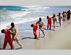 The execution of the Christian Ethiopians captured in Libya by ISIS (YouTube, April 19, 2015)