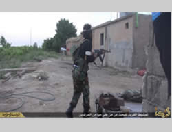ISIS operatives firing in the area of Tall Tamr.