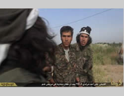 Kurdish fighter captured by ISIS operatives during the battles in Tall Tamr (justpaste.it, May 1, 2015).