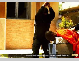 The execution of a person accused of witchcraft, who was caught in Benghazi (May 3, 2015)