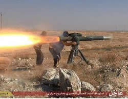American-made anti-tank weapons which fell into the hands of ISIS and was used in combat in Al-Hasakah.