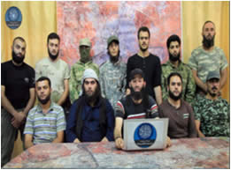 Operatives of the new framework, whose goal is to take over Aleppo (YouTube, July 2, 2015).