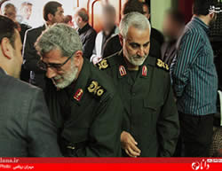 Qasem Soleimani, third from the left. The social networks recently posted pictures apparently indicating Qasem Soleimani had come back to Iran for a visit and then returned to Iraq.