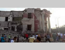 Damage caused to the Italian Consulate in Cairo (ahram.org, July 11, 2015).