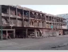 Scenes of destruction in the city of Fallujah (YouTube, July 21, 2015)