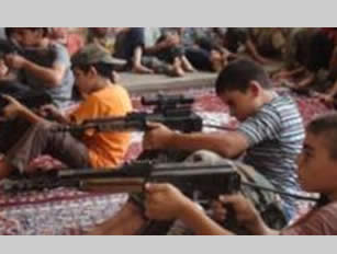 Children's training at an ISIS camp south of Damascus (justpaste.it, August 8, 2015)