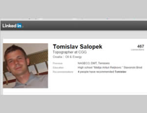 Details about the Croatian national held by operatives of ISIS's Sinai province (LinkedIn)