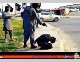 Photo released by ISIS's Tripoli province, documenting the execution of an Indian citizen