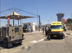 Scenes of Israeli forces attacked with a knife by Palestinians at checkpoints.