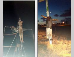 Public executions of the residents from the city of Sirte, posted on Twitter