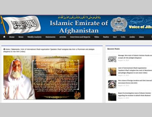 Acceptance of Iman al-Zawahiri's pledge of allegiance