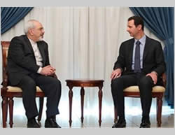 Foreign Minister Zarif meets with President Assad