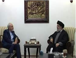 Zarif meets with Nasrallah.