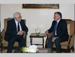 Mahmoud Abbas meets with King Abdallah of Jordan (Wafa News Agency, August 30, 2015).