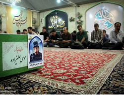 The funeral held for Musa Alizadeh in Mashhad