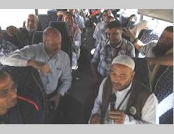 The departure of 500 pilgrims from the Gaza Strip, funded by the Saudi king (Shihab Facebook page, September 17, 2015)