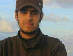 Hamza Mahmoud Miqdad, 18, resident of the Shati refugee camp in Gaza, who was killed fighting in the ranks of ISIS in Iraq (Gaza Alan's Twitter account, September 19, 2015)