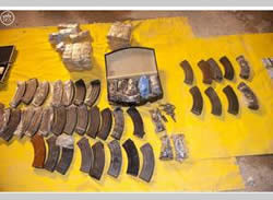 Weapons, money and other means seized in Saudi Arabia in an operation against ISIS operatives (Al-Arabiya, September 16, 2015)