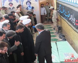 The funeral held in Kerman for the two Afghan fighters