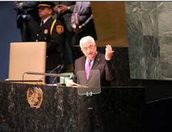 Mahmoud Abbas at the UN General Assembly (Wafa News Agency, September 30, 2015).