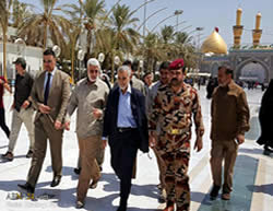 Soleimani visits the Iraqi city of Karbala, August 2015