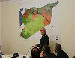 Hossein Hamedani briefs commanding officers on the situation in Syria (Tasnim News, October 9, 2015)