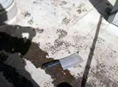 The meat cleaver used to attack the bus passengers.