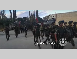 Syrian Army forces in the village of Atshan (SANA News Agency, October 11, 2015)