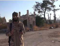 ISIS operative in the rural area northeast of Aleppo (archive.org file-sharing website, October 10, 2015)