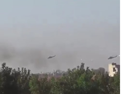 Russian helicopters attacking in the northern rural area of Homs (ISIS-affiliated Twitter account, October 17, 2015)