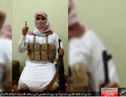 : ISIS operative codenamed Shuja' al-Dusri, who carried out the attack in the Shiite mosque in the town of Saihat, Saudi Arabia (ISIS-affiliated Twitter account, October 16, 2015)