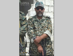 Farshad Hassounizadeh, former commander of the Saberin Special Brigade, who was killed in Syria (ABNA)