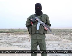 ISIS operative threatening in Hebrew that soon there will not be one Jew left in Palestine