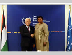 Mahmoud Abbas and Fatou Bensouda meet in The Hague  (Wafa News Agency, October 30, 2015).