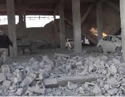 Destroyed building in the village of Mheen (archive.org, November 1, 2015).