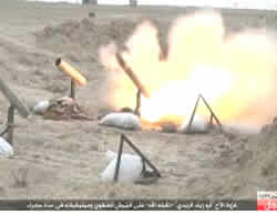 Exchange of fire during the fighting in western Samarra (Dawlat al-Khilafah al-Islamiyya website, October 31, 2015)