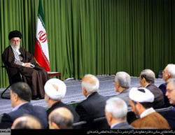 Ali Khamenei briefs Iranian ambassadors and the heads of Iranian missions abroad.