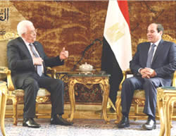 Mahmoud Abbas meets with Abdel Fattah el-Sisi in Egypt (Wafa News Agency, November 7, 2015).