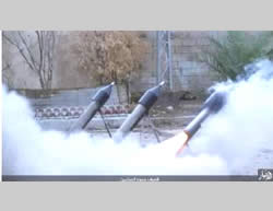 Rockets being fired by ISIS at the Iraqi Army west of Ramadi (Akhbar al-Muslimeen, November 7, 2015)