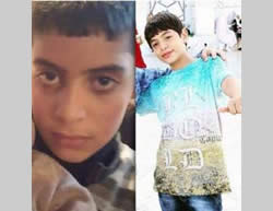Two Palestinian children who carried out a stabbing attack on the light railway in Jerusalem. Left: Ali Alqam, 13. Right: Muawiya Alqam, 12 (Hamas website, November 10, 2015).